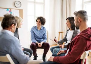 group therapy program at rehab
